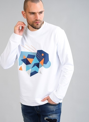 People By Fabrika Sweatshirt Beyaz